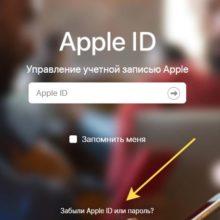 Восстановление забытого пароля от Apple ID: 3 быстрых способа